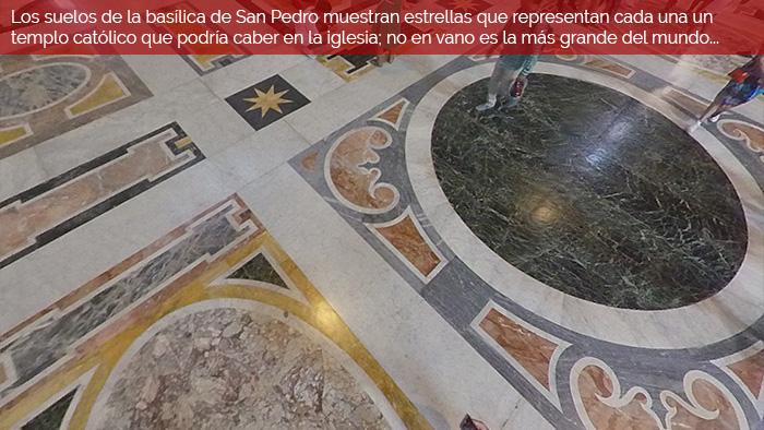 Pavimentos de la Basílica de San Pedro - Out the Cave - Turismo Accesible